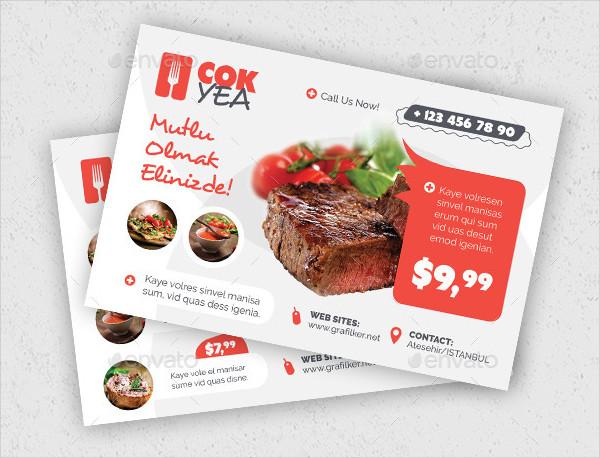 Custom Restaurant Postcard Templates