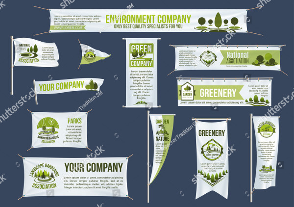 Eco Green Business Street Banner