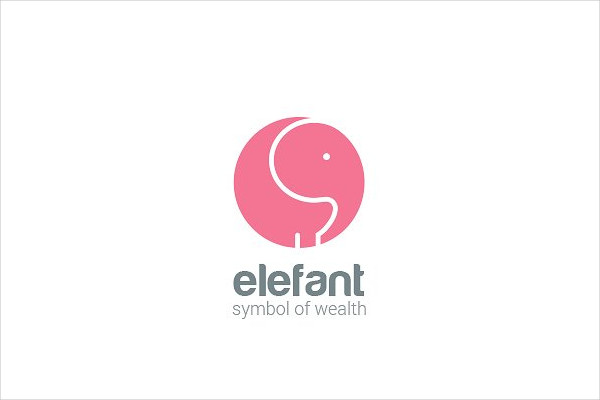 Elephant Logo Circle Design Vector Template