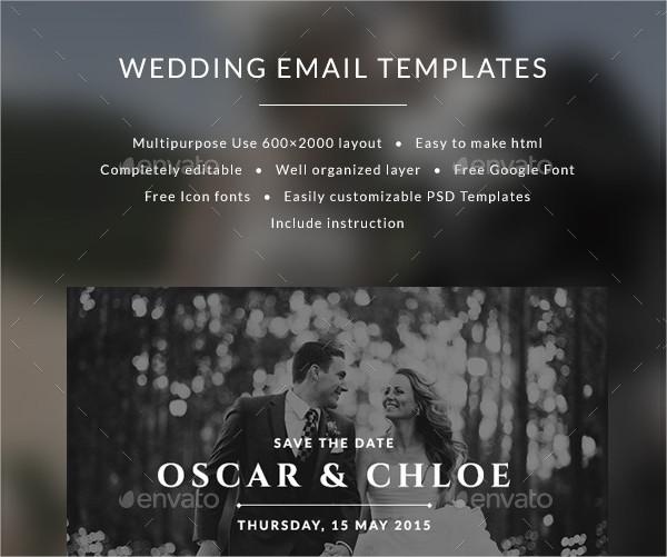 Email Wedding Invitation Templates