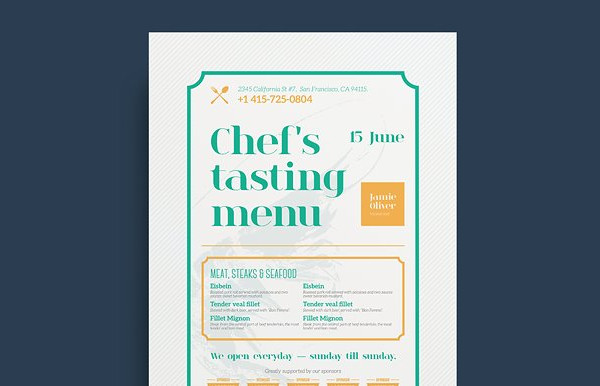 Famous Restaurant Poster Template