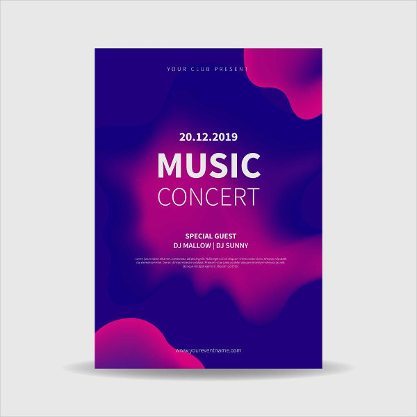 Free Concert Poster Vector Download