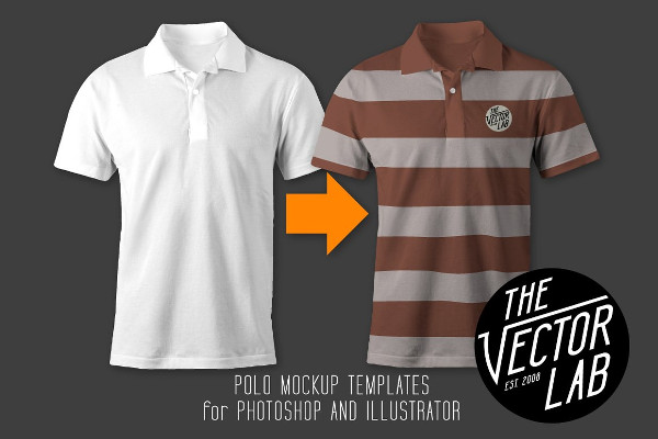 Fully Editable Men's Polo Mock-up Designs