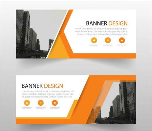 Geometric Advertising Banners Free Download