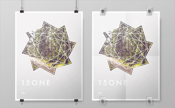 Simple Poster Mockup PSD