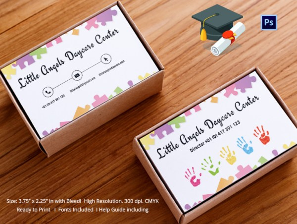 Little Angels Daycare Center Business Cards