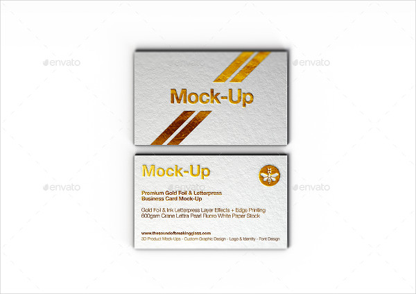 Luxury Gold Foil Business Card