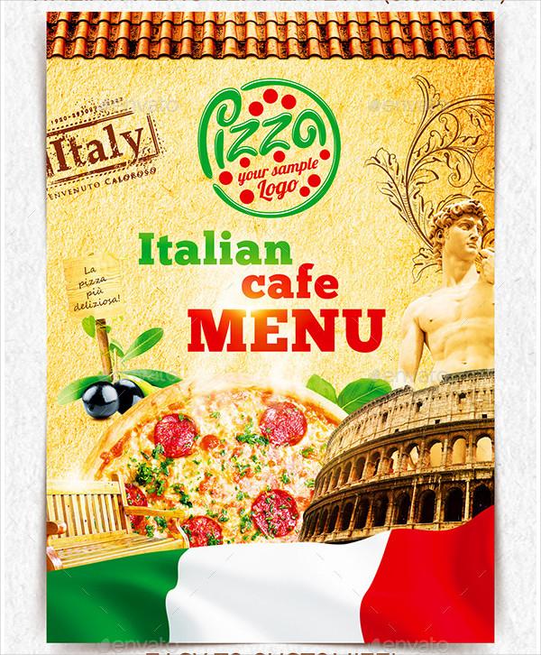 Custom Italian Menu Template