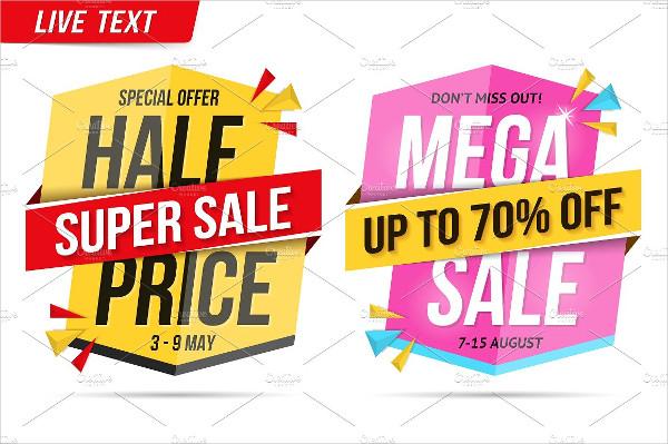 Mega Sale Banner Design Template