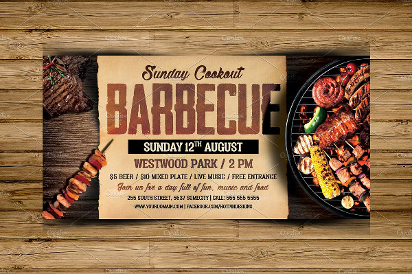 Modern Barbecue Flyer Photoshop