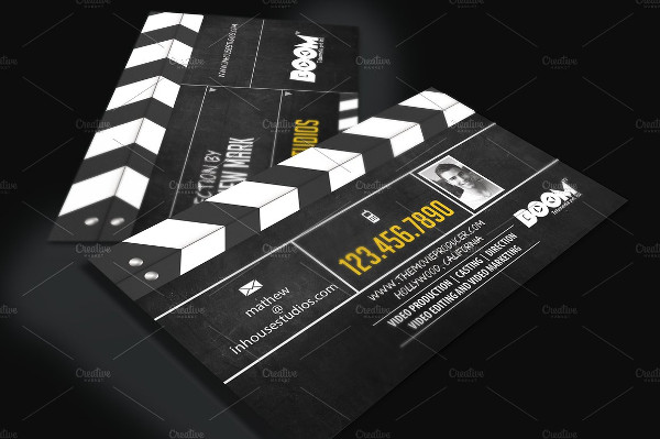 Movie Actor Business Card Template