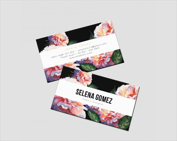 Professional Floral Business Card Template