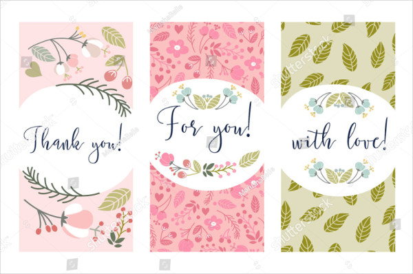 Set of Floral Labels Template