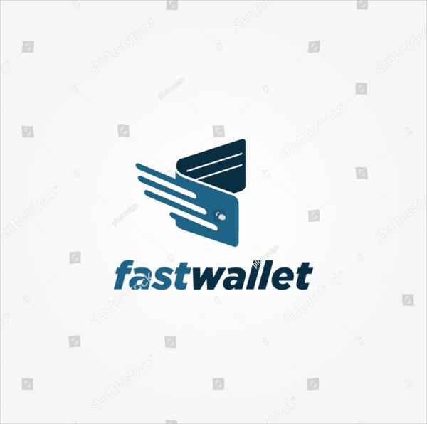 Simple Fast Wallet Logo Design