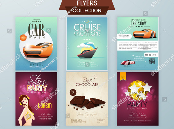 Stylish Flyers of Car Wash & Cruise Vacations