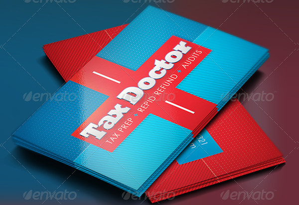 Tax Doctor Flyer and Business Card Template