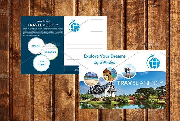 Holiday Postcard PSD Template