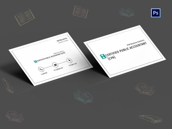 CPA Business Card Template