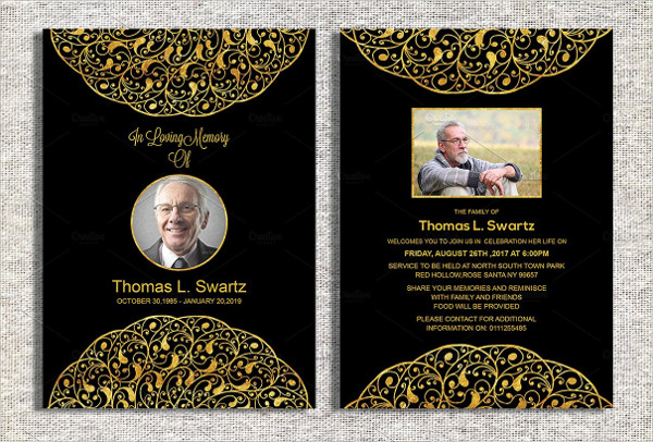 Best Funeral Invitation Template