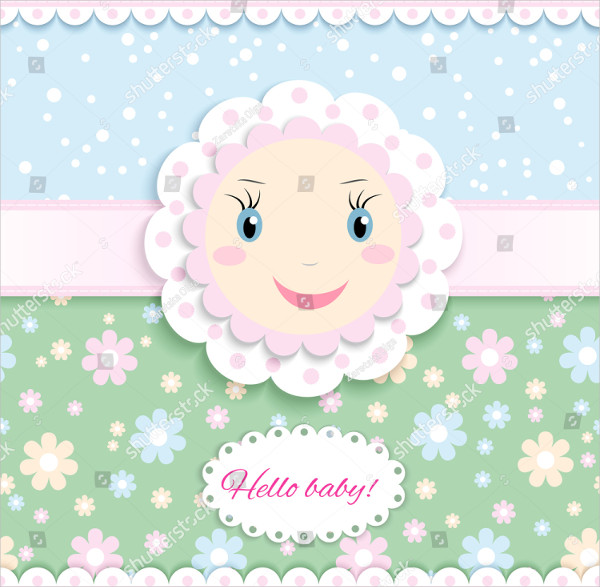 Baby Congratulations Card Template