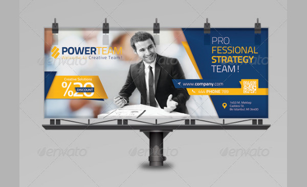 Corporate Billboard & Roll-Up Template