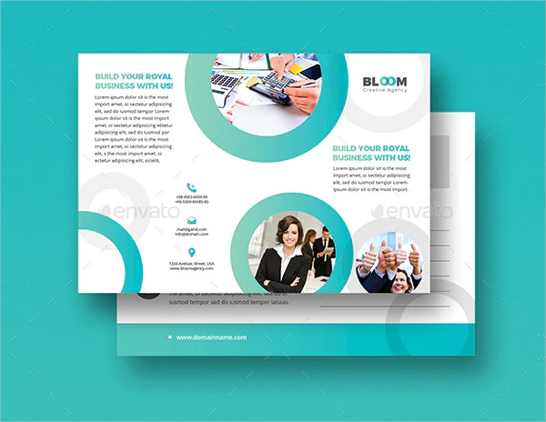 Corporate Business Agency Postcard Invites