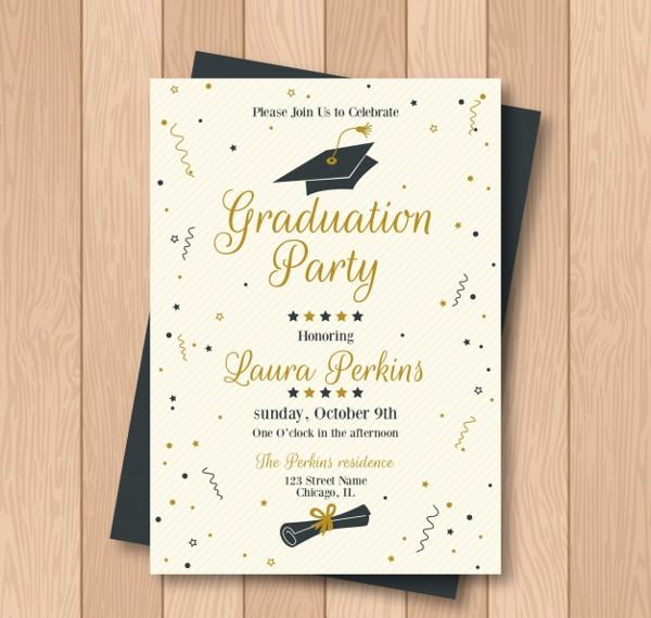 Creative Graduation Party Invitation Free