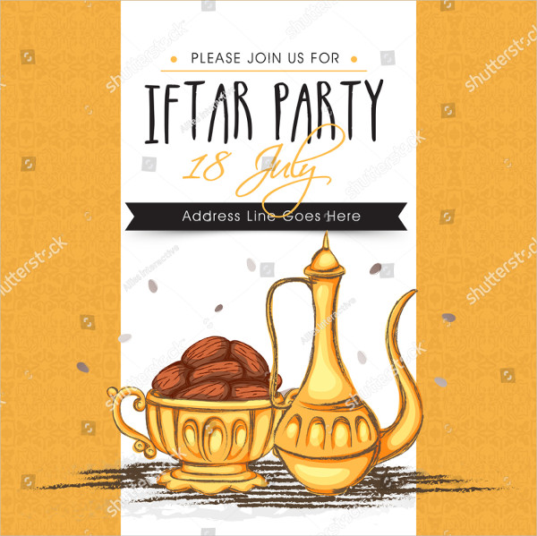 Creative Invitation Card Template with Dates