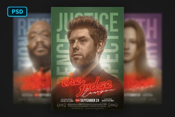 Editable Movie Poster PSD