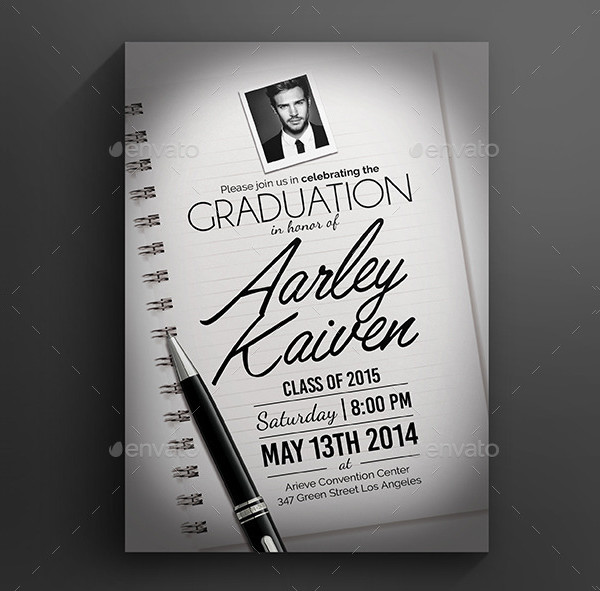 Elegant Graduation Invitation Design