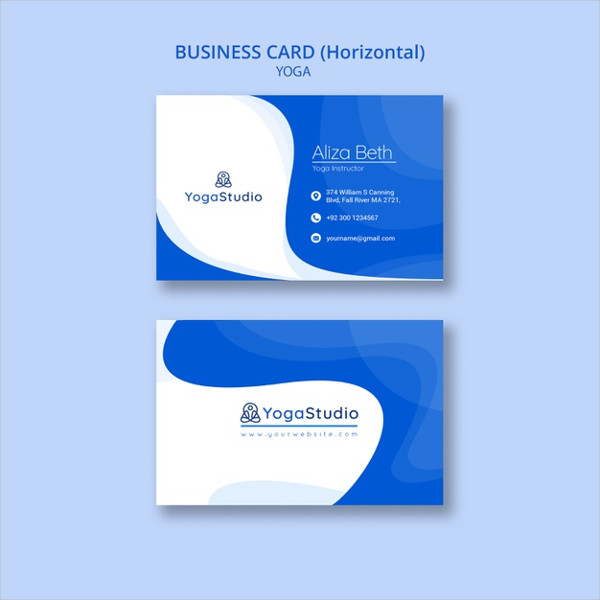 Free PSD Fitness Business Card Design Download