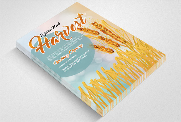 Harvest Poster Photoshop Design
