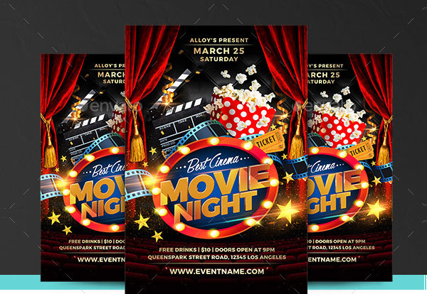 Movie Night Flyer Template Free from i2.wp.com