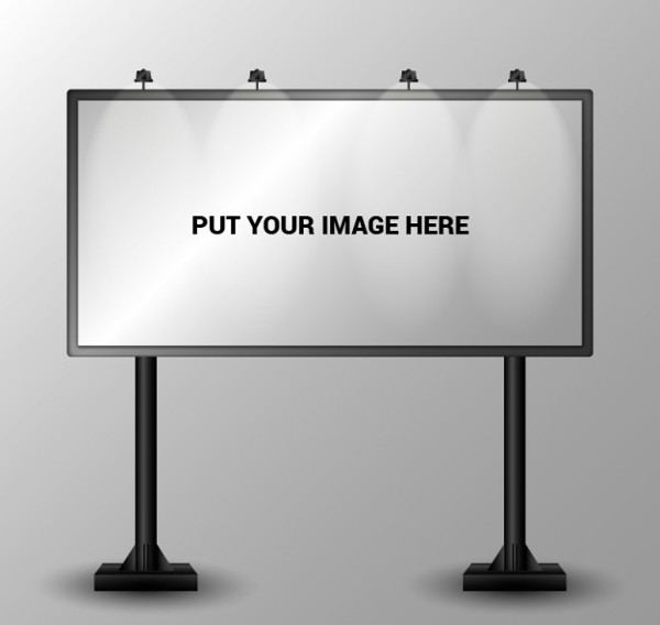 Simple Billboard Vector Free Download