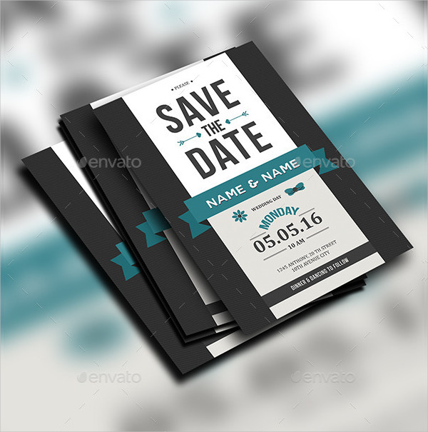 Cool Save The Date Card Design