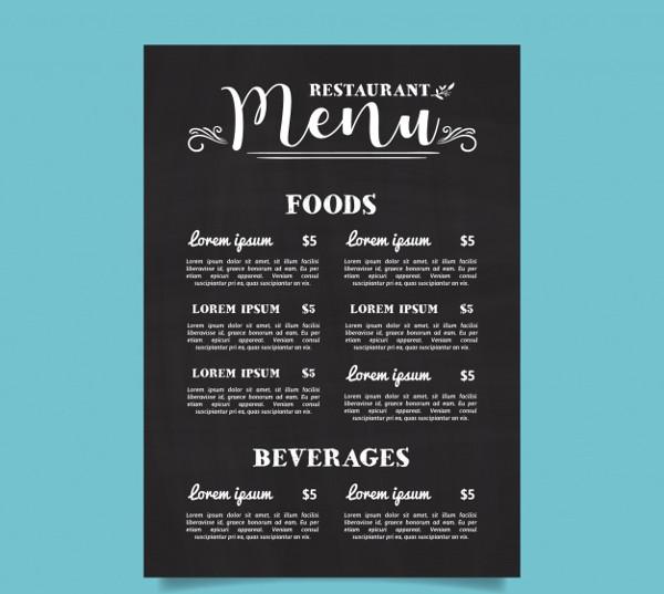 Free Typography Menu Download