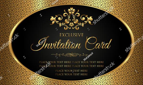 Royal Luxury Wedding Invitation Card