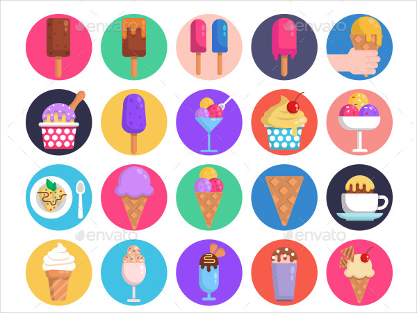 50 Ice-Cream Icon Set Ready for Your Design Projects
