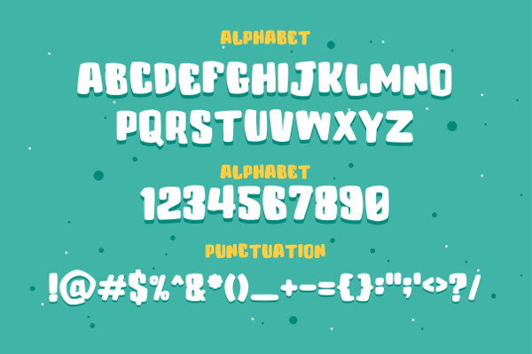 Funny Layered Typeface Fonts