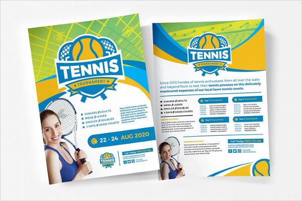 Tennis Photoshop Flyer Templates