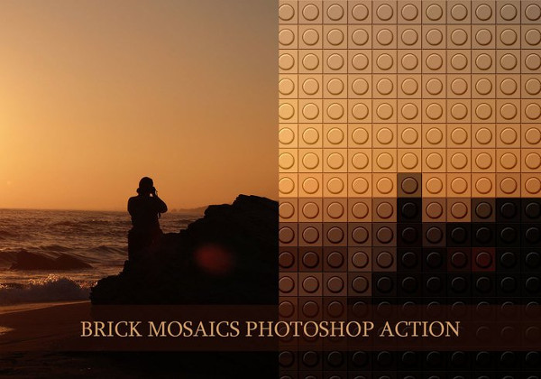 Brick Mosaics Photoshop Actions Free