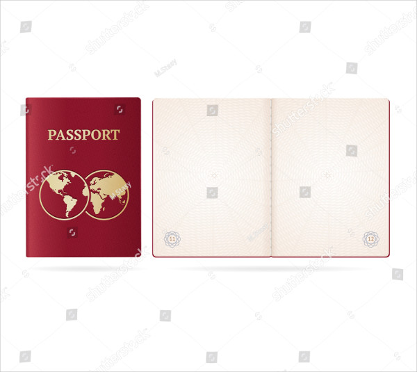 Realistic Detailed 3D Passport Blank Mock-Up