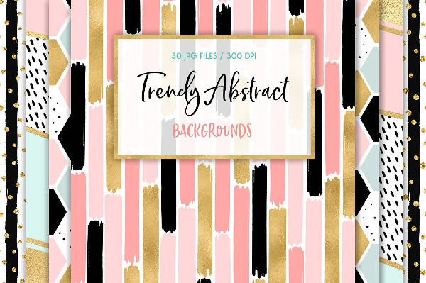 Trendy Abstract Background