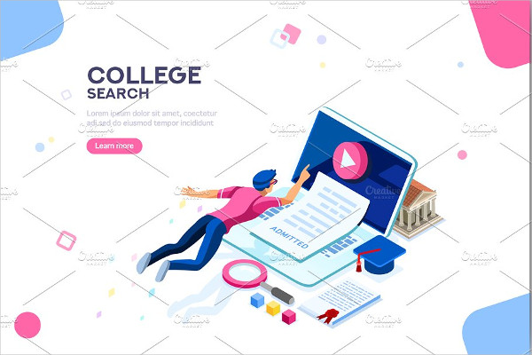 College Web Page Banner Template
