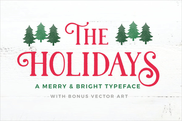 Holidays Fancy Font