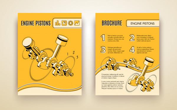 Modern Car Industry Technologies Brochure Free
