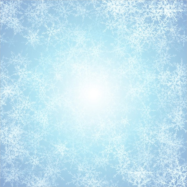 Blue Background with White Snowflakes Free