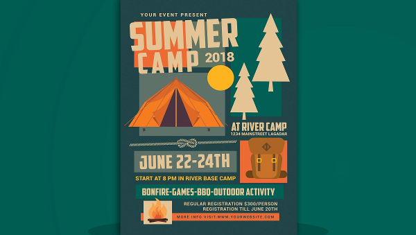 Camp Brochure Template