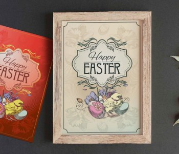 Easter Postcard Template