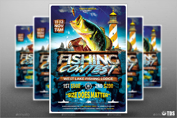 Fishing Contest Flyer Template